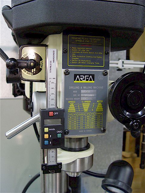 Wheel Alignment Machine >> RF-25 Mill DRO Z-axis Scale