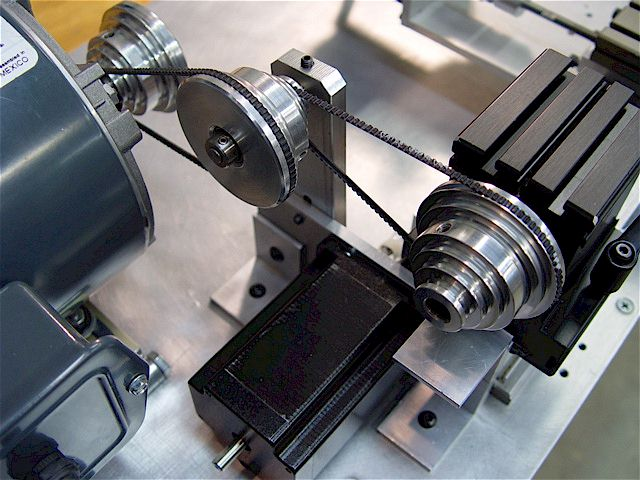 Taig micro lathe motor mount jackshaft pulley for Low rpm stepper motor