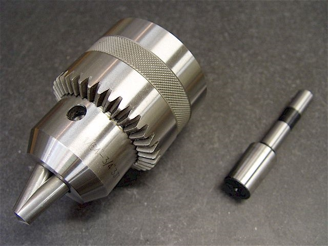 how to put a drill chuck on a lathe