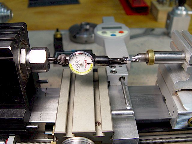 Dial Indicator Mounting In Collet : Taig micro lathe tramming